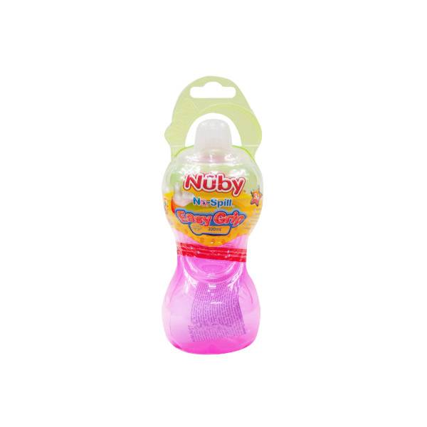 Nuby Gobelet Easy Grip Bec Silicone Anti-goutte Rose Jaune +9 mois 300ml