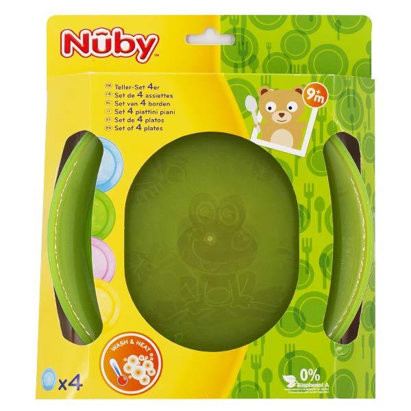 Nuby Set 4 Assiettes en PP +9 mois
