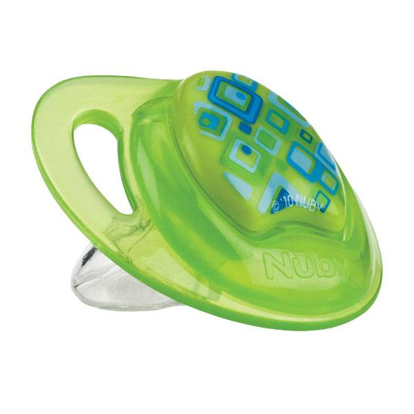 Nuby Sucette PP PRISM Silicone Orthodontique Verte 0-6 mois