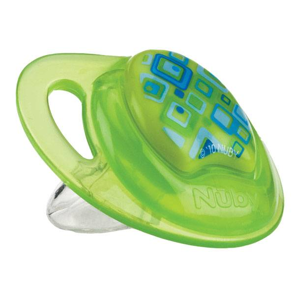 Nuby Sucette PP PRISM Silicone Orthodontique Verte 6-18 mois