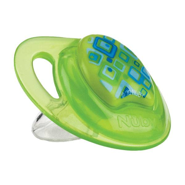 Nuby Sucette PP PRISM Silicone Orthodontique Verte +18 mois