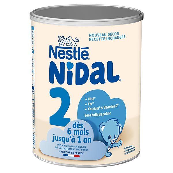 Nidal Lait en Poudre 2ème Âge 6-12m 800g