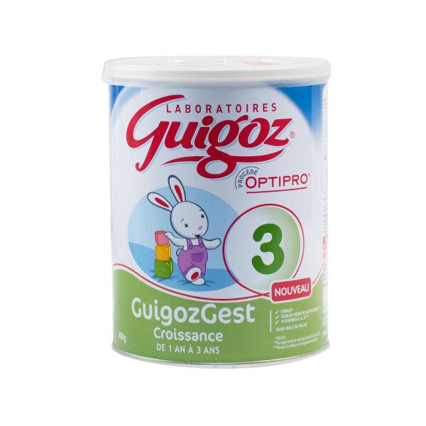 Guigoz Gest Croissance Lait 3eme âge 800g