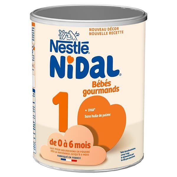 Nidal Bébés Gourmands Lait 1er Age 0-6m 800g