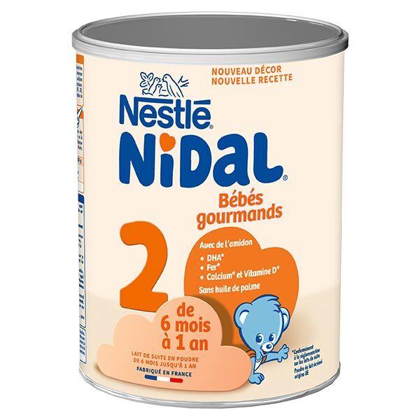 Nidal Bébés Gourmands Lait 2eme Age 800g