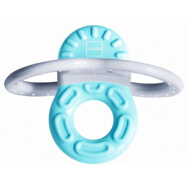 MAM Mini-Anneau de Dentition Phase 1 Bleu & Boîte de Stérilisation