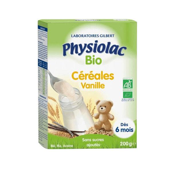 Physiolac Bio Céréales Vanille +6m 200g