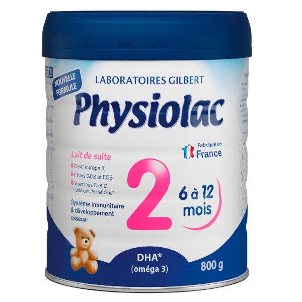 Physiolac Lait 2ème Age 6 à 12 mois 800g