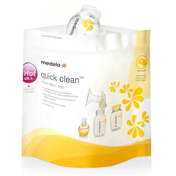 Medela Quick Clean sachets de Stérilisation Micro-Ondes 5 Unités