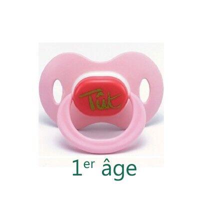 Béaba Sucette Latex Tut Rose 1er age