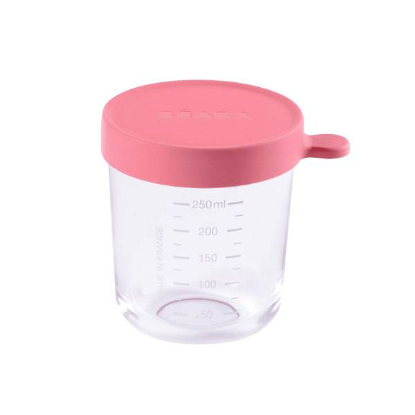 Béaba Portion Pot de Conservation en Verre Rose 250ml