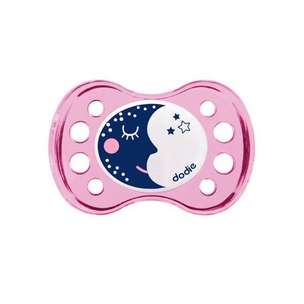 Dodie Sucette Anatomique Silicone Nuit 'Lune' +6M A17