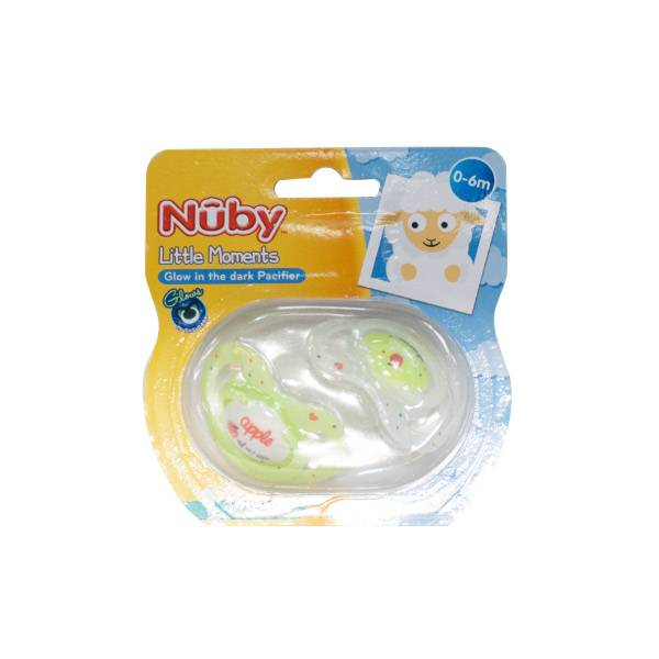 Nuby Sucettes Phosphorescentes Apple Of My Eye 0-6m Lot de 2