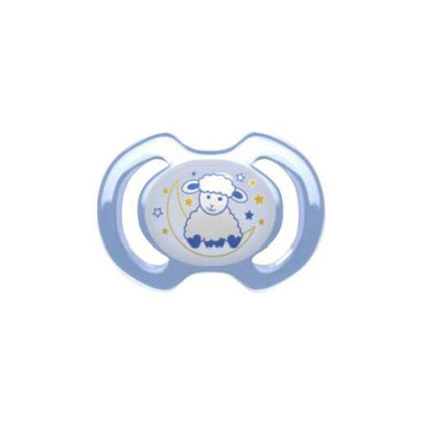 Bébisol Sucette Nuit Reversible Silicone Bleu Mouton -6m