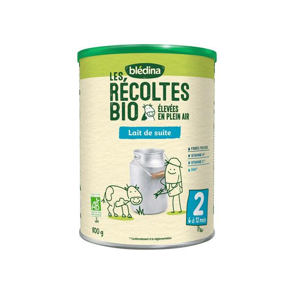 Blédina Récoltes Bio Lait 2ème Age 800g