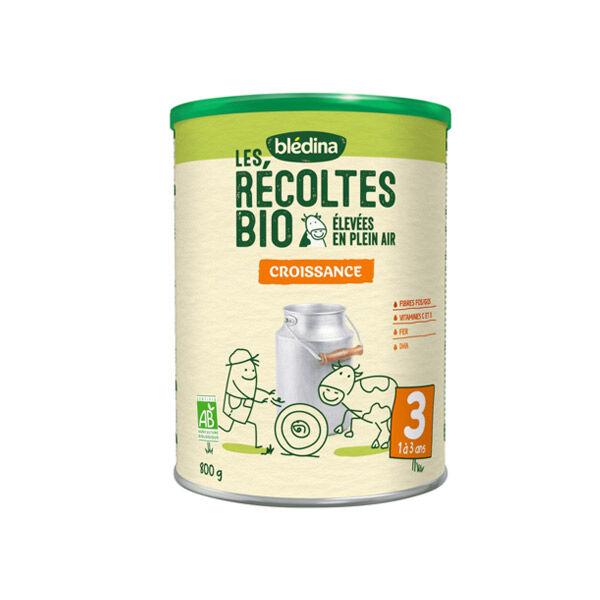 Blédina Récoltes Bio Lait Croissance 3ème âge de 1 à 3 ans 800g