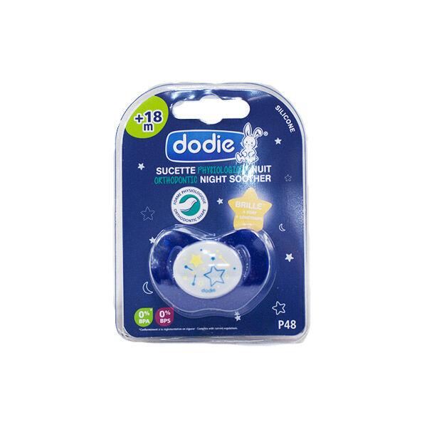 Dodie Sucette Physiologique Silicone Nuit +18m Etoile Bleu P48