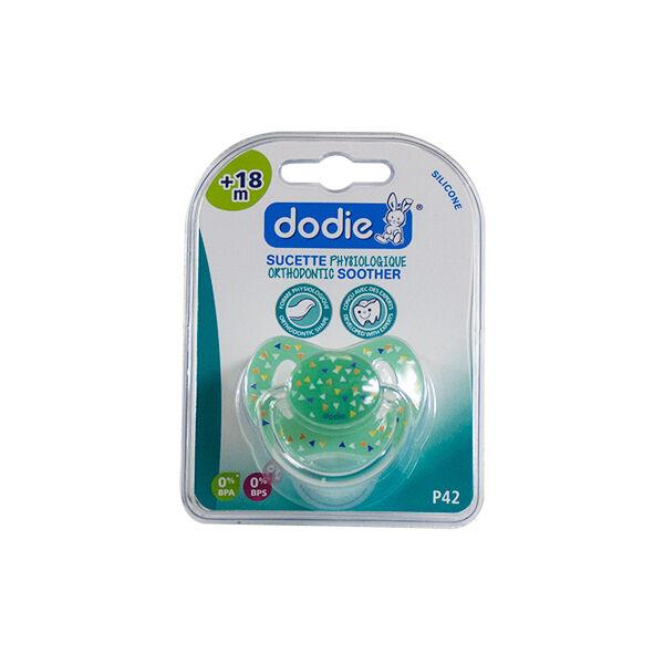 Dodie Sucette Physiologique Silicone Verte Fanions +18m P42