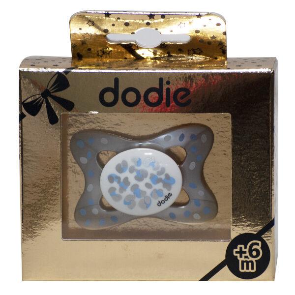 Dodie Sucette Anatomique Silicone +6m Doré Noir B1