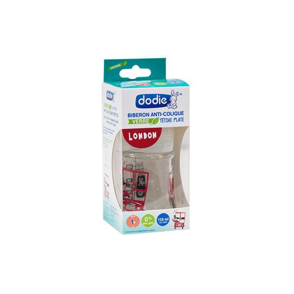 Dodie Biberon Verre Sensation + London Débit 1 150ml