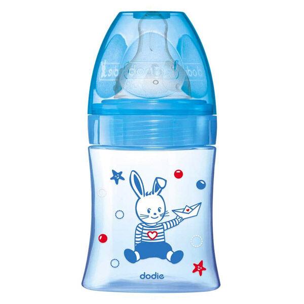Dodie Biberon Initiation+ Anti-Coliques 3 Vitesses +0m Bleu Bateau 150ml
