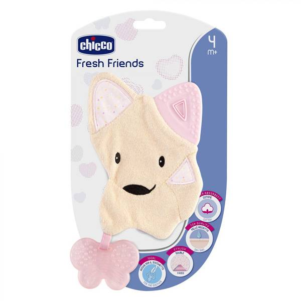Chicco Fresh Friends Doudou de Dentition +4m Rose