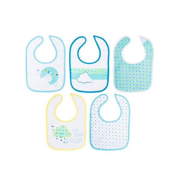 Lysse Baby Bavoirs Tissu Bleu 5 unités