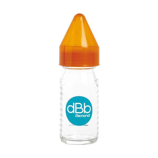 dBb Remond Biberon Jus de Fruit Régul'Air Verre Orange Translucide 110ml