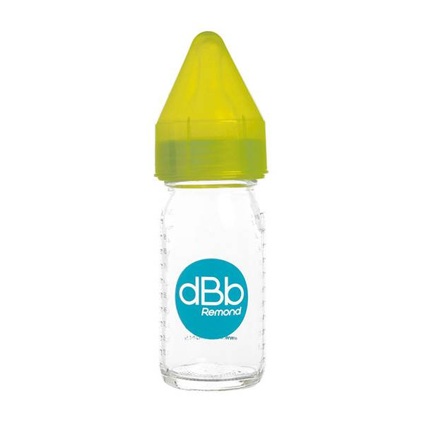 dBb Remond Biberon Jus de Fruit Régul'Air Verre Vert Translucide 110ml