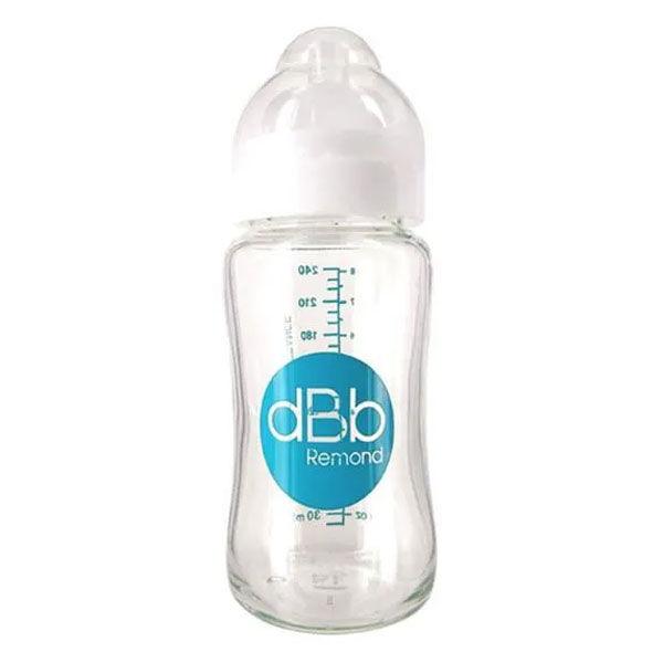 dBb Remond Biberon Silicone Large Ouverture +0m Blanc 240ml