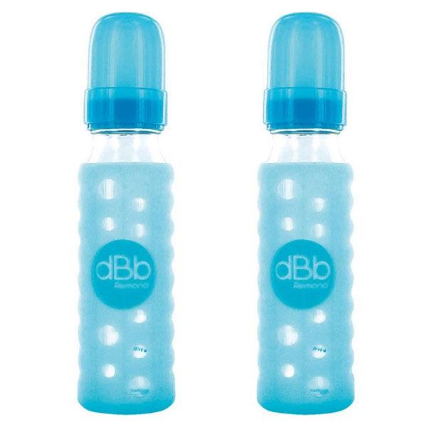 dBb Remond Sur-Bib Silicone Turquoise Lot de 2