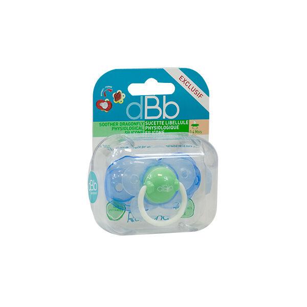 dBb Remond Sucette Physiologique Silicone Libellule Bleue et Verte 1er âge