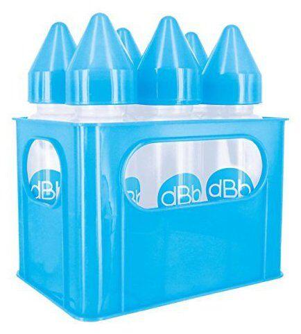 dBb Remond Porte-Biberons Bleu + 6 Biberons en Polypropylène 270ml