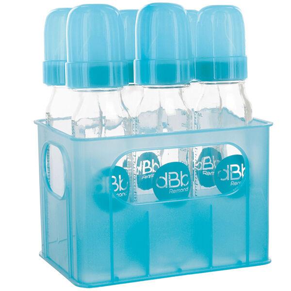 dBb Remond Porte-Biberons Turquoise + 6 Biberons en Verre 240ml
