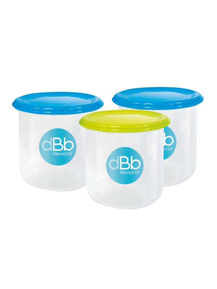 dBb Remond Set de 3 Pots de Congélation 300ml