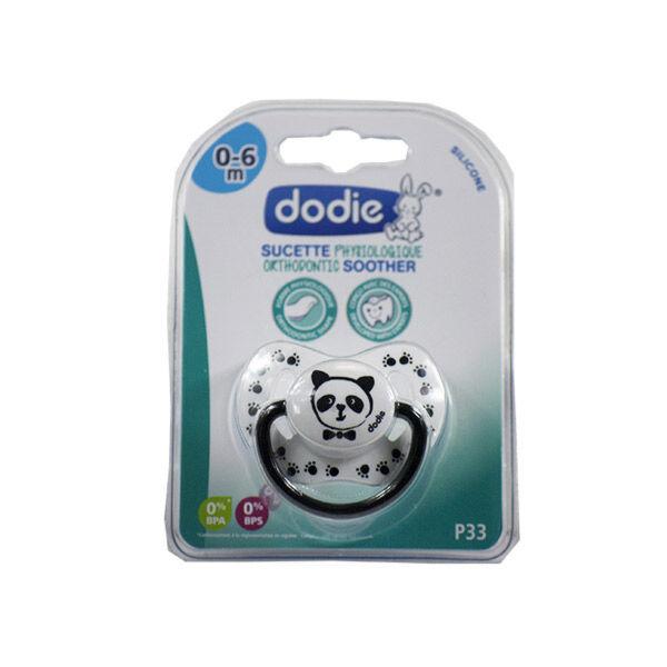 Dodie Sucette Physiologique Silicone 0-6m Noir et Blanc Panda P33