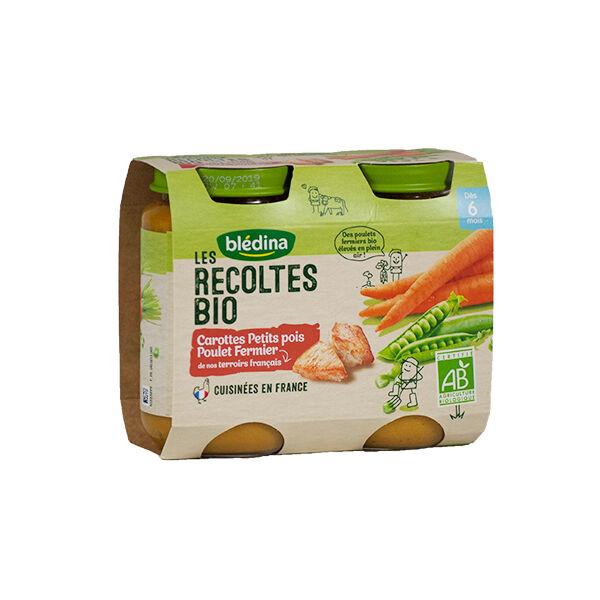 Blédina Récoltes Bio Petits Pois Poulet 2 x 200g