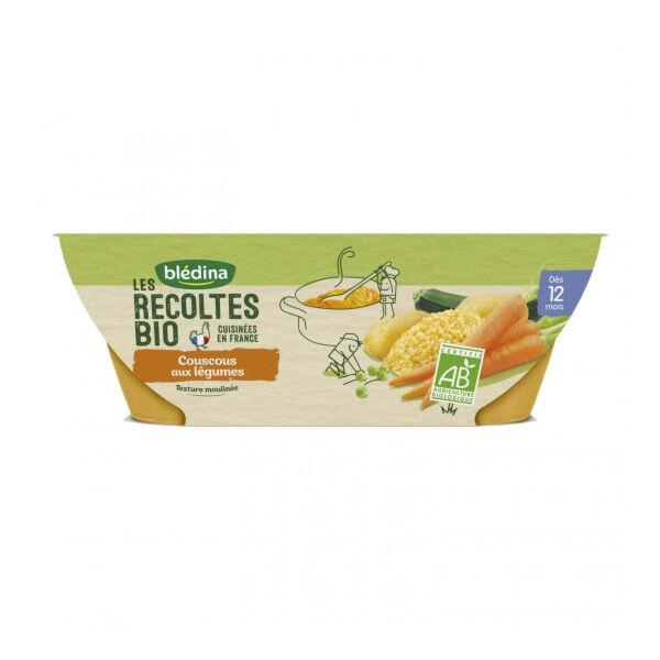 Blédina Récoltes Bio Bol Couscous aux Légumes +12m 2 x 200g