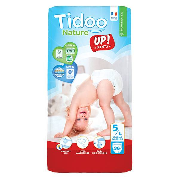 0176010_ Tidoo Culottes d'Apprentissage Stand Up T5 Junior (12 -18kg) 36 couches