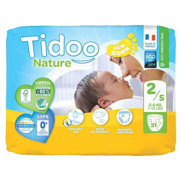 0176237 Tidoo Couches Night & Day T2 Mini 3-6kg 31 unités