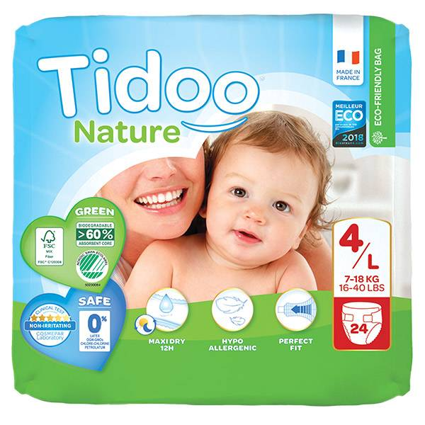 0176239 Tidoo Couches Night & Day T4 Maxi 7-18kg 24 unités