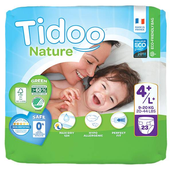 0176240 Tidoo Couches Night & Day T4+ Maxi+ 9-20kg 23 unités