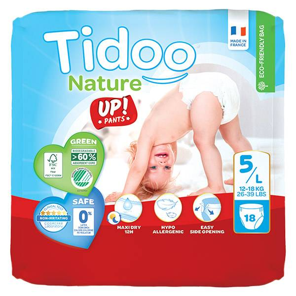 0176244 Tidoo Culottes d'Apprentissage Stand Up T5 Junior (12 -18kg) 18 couches