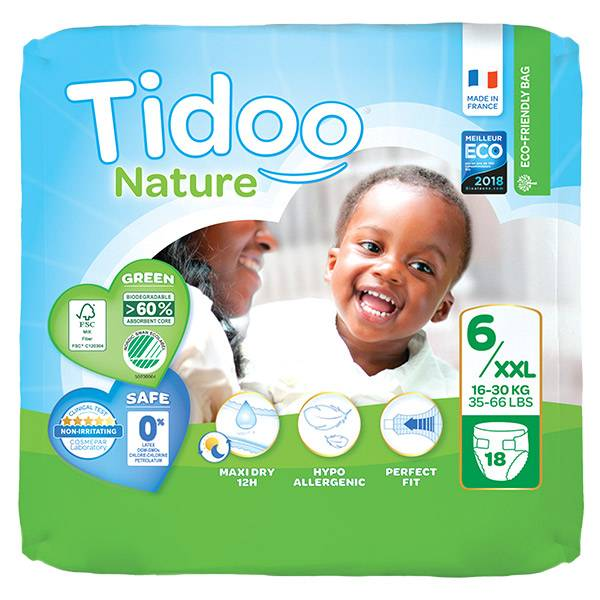 0176270 Tidoo Nature Couches Night & Day T6 XXL 16-30kg 18 couches