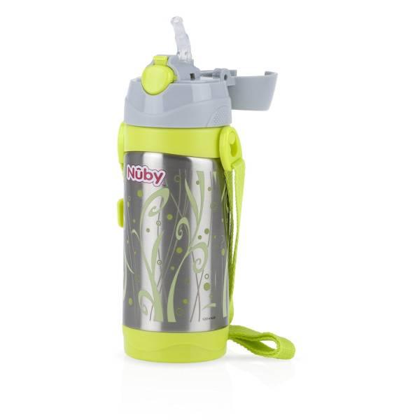 2610264 Nuby Thermo Inox Gourde Paille Rétractable 360ml