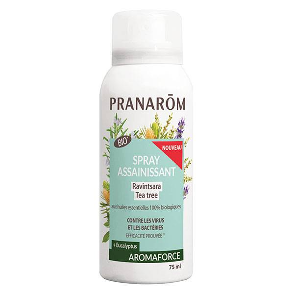 Pranarom Aromaforce Spray Assainissant Ravintsara Tea Tree Bio 75ml
