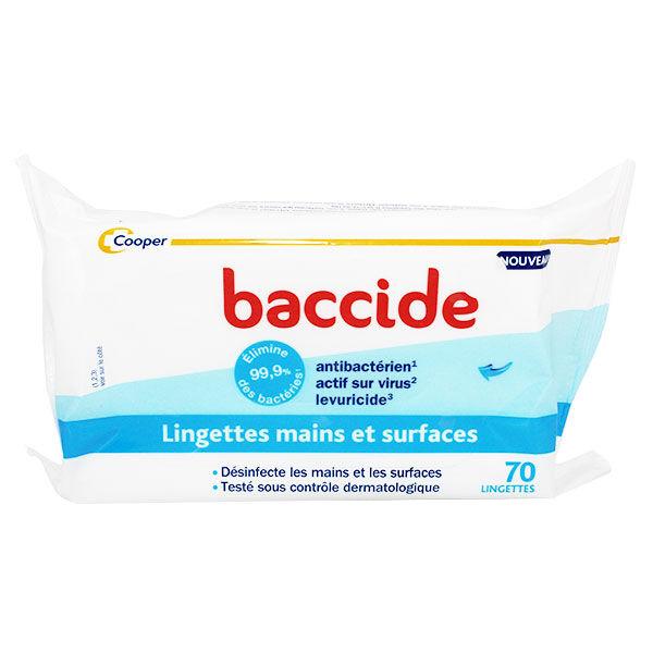Cooper Baccide Lingettes Mains et Surfaces 70 lingettes