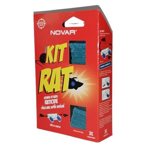 Stop & Protect Novar Kit Pièges Rat et Petits Rongeurs Avec Appats