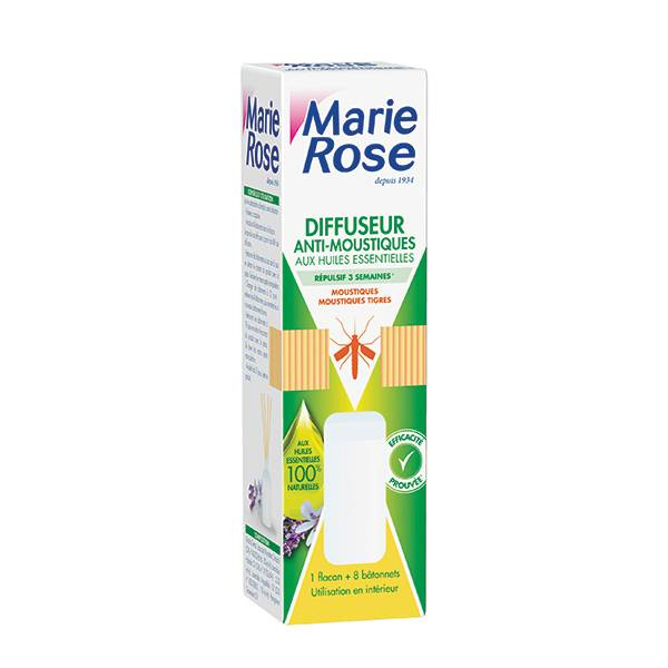 Marie Rose Diffuseur Anti-Moustiques 50ml + rotins