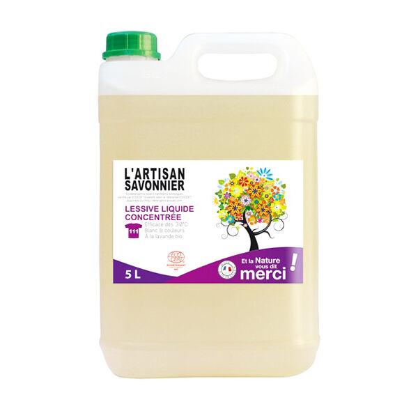 L'Artisan Savonnier Lessive Liquide Concentrée 5L